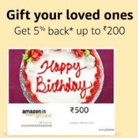 5% Back Upto 200 On Amazon Email Gift Cards