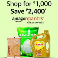 Save Rs.2400 on Amazon Pantry Order of Rs.1000 (Prime Day)
