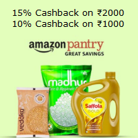 Save Upto 900 on Amazon Pantry Order of Rs.2000 With Amazon Pay
