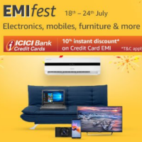 10% off on ICICI Credit Card EMI on Electronics, Mobiles & Furniture