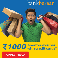 Get an Amazon gift card upto Rs. 1000 on on Credit Cards*.