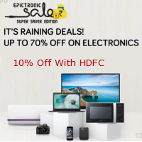 Electronics Sale Upto 70% off + 10% off