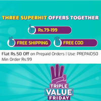 Triple Value Friday Sale From Rs.79