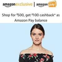 Get 100 cashback on purchase of 500 Womens Clothing