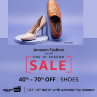 Shoes 40% - 70% Off + 10% back with AmazonPay